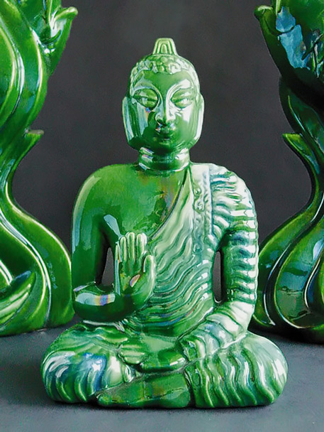 Eric-Olsen-Buddha-Green sculpture