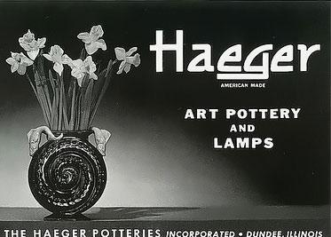 Haeger advertising banner
