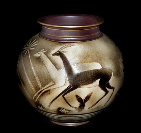 Gunnar Nylund art deco jar