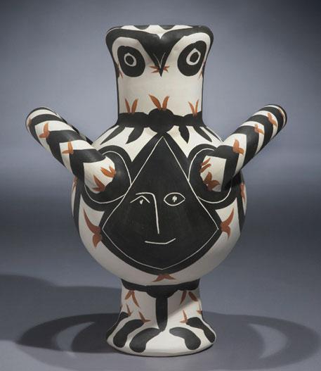 Ceramic Picasso owl figure
