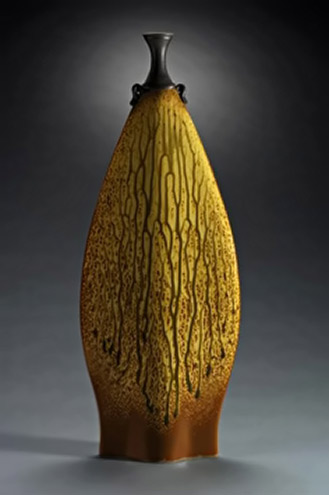 Brian Beam ceramic bottle
