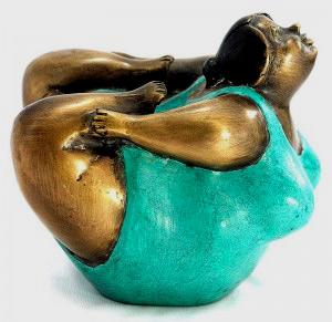 Curvy Yogini figurine
