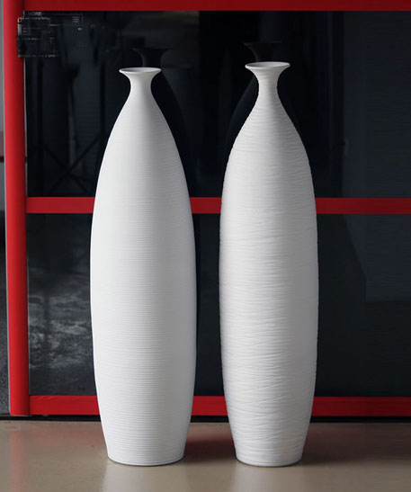 Tall contemporary ceramic vases