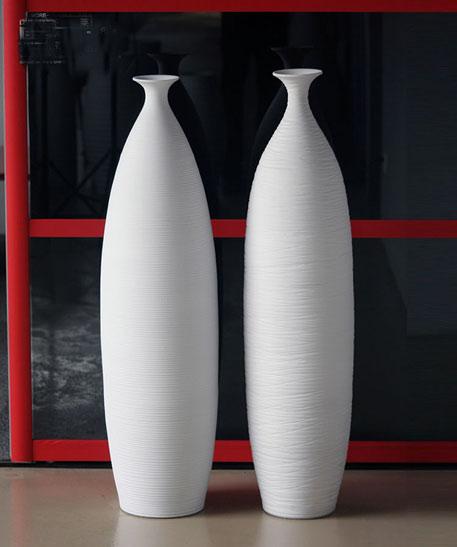 Tall contemporary ceramic vases