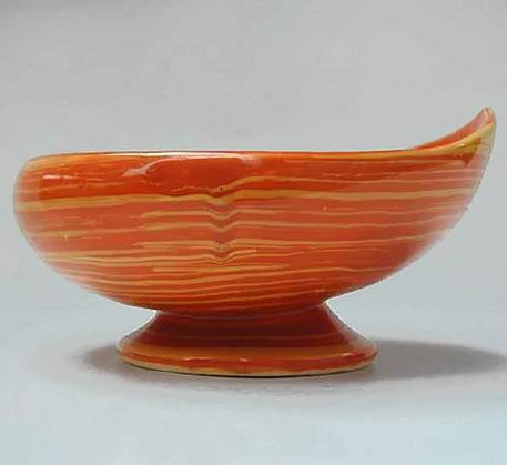 Vintage McCoy Pottery Harmony Mid Century Modern Planter Tangerine