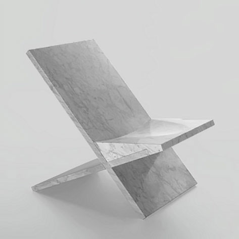 Marsotto Edizioni - contemporary chair made from marble