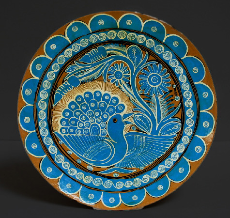 Mexican folk art peace-plate-475x450