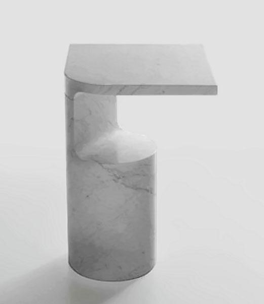 Marsotto Edizioni minimalist marble side table