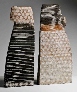 Two contemporary ceramic vases by Petra Bittl