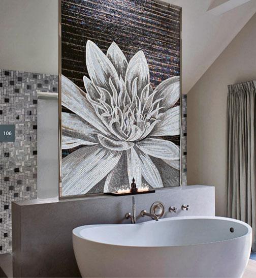 sicis-flower-power-mosaic bathroom panel