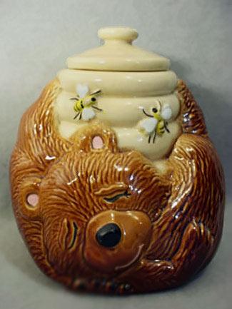 Vintage McCoy Sleeping Bear with Honey Pot