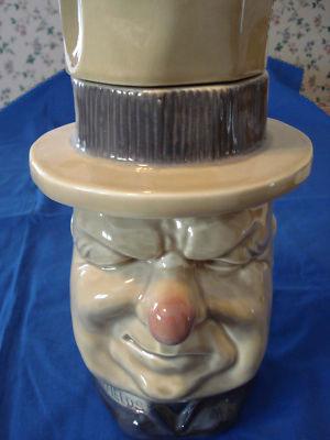 Vintage McCoy Pottery,hat wearing W.C.Fields cookie Jar