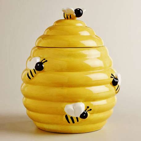 honey-beehive Cookie Jar
