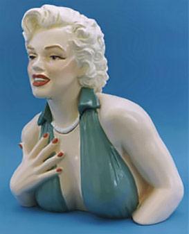 Monroe cookie jar porcelain