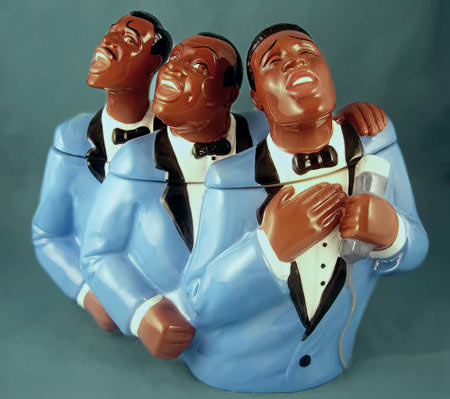 Soul-Tones-jar for cookies - Three soul brothers singing