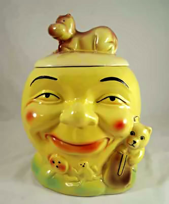 McCoy Cow Jumped Over Moon yellow Cookie Jar