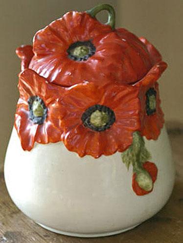 Red-Poppy-Royal-Bayreuth-Biscuit-Cookie-Jar