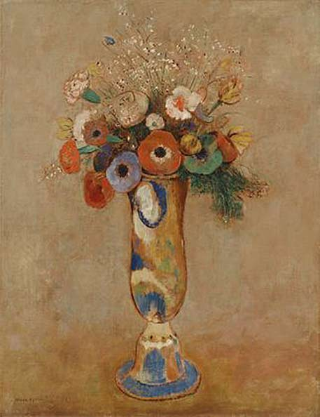 Wildflowers-in-a-Long-Neck-Vase-Odilon-Redon