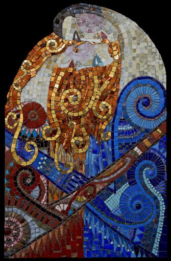 Irinia-Charny - mosaic of embracing couple