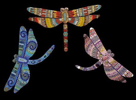 Irinia-Charny three dragonflies mosaic