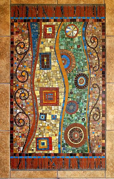 Irinia-Charny-mosaic rug abstract patterns