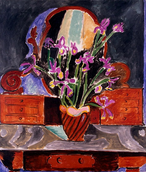 Matisse - vase with iris