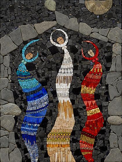 Three dancing Goddesses mosaic by Irinia-Charny