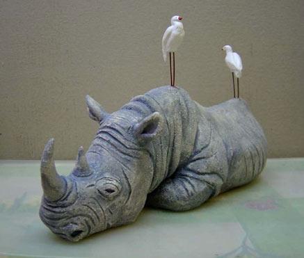 Anastasia Tarasova sculptured rhinoserous