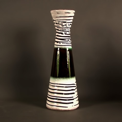 Fat Lava ceramic vase. 1950