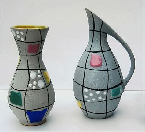 Gebruder-Conradt-Schwabisch modernist jug and vase