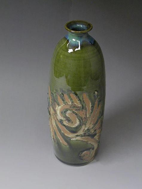 Samsung Miyagi green glaze ceramic bottle