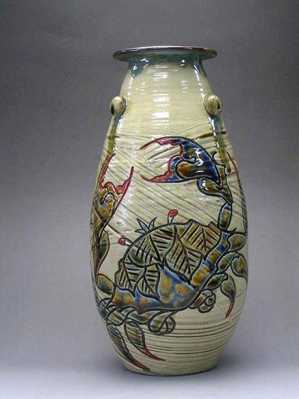 Crab motif vase Samsung Miyagi
