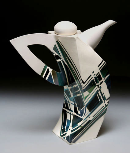 Hubert Ceramics cubist teapot