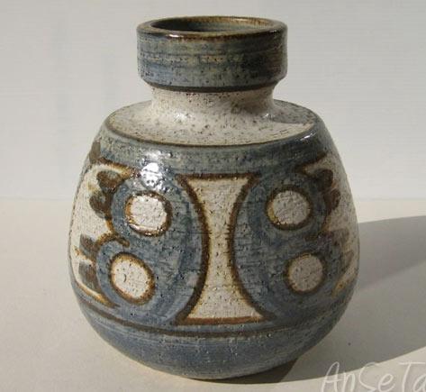 Soholm-Denmark-heavy-Stoneware vase