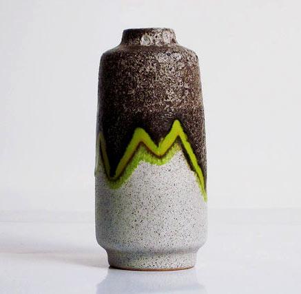 VEB Haldensleben (formerly Carstens Uffrecht) fat lava glaze vase