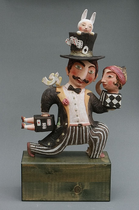 Elya Yalonetskaya Figurine of a magician performing tricks