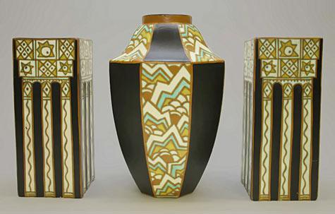 Art Deco ceramic set - Charles Catteau