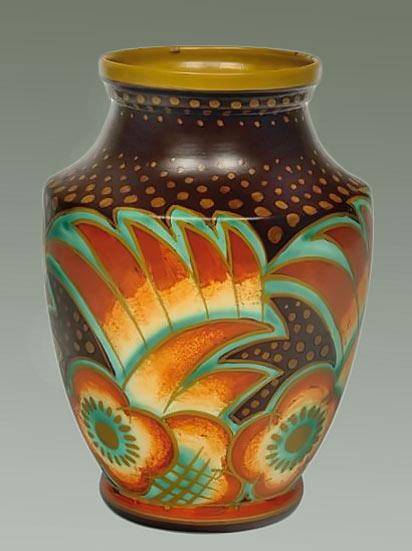 Polychrome Art Deco vase - Charles Catteau