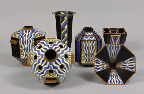 Charles Catteau Art Deco vases