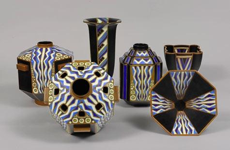 Charles Catteau Art Deco vases