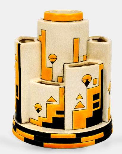 Charles Catteau Cubist Art Deco vase
