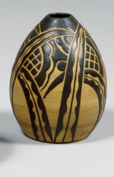 Charles Catteau africanist/art deco vase