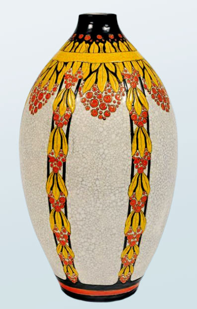 Art Deco ovoid vase by Charles Catteau