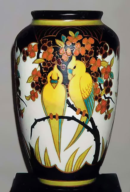Love birds vase - Charles Catteau