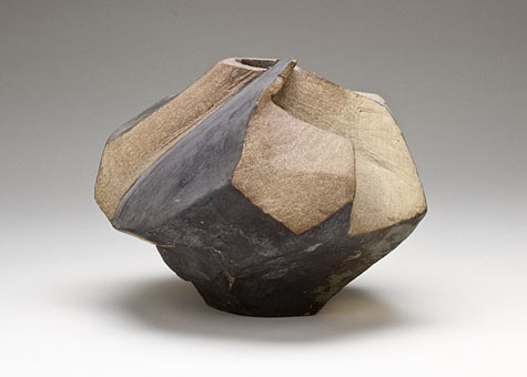 Ceramic faceted stoneware sculpture - Mac McClain