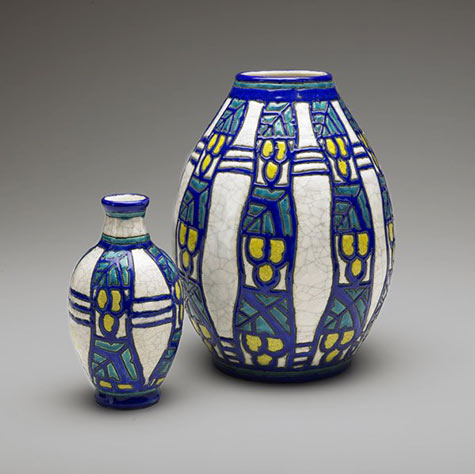 Art Deco vase set-Charles Catteau