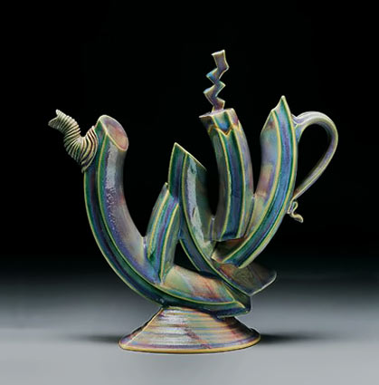 Abstract ray-bub-ceramic-teapot