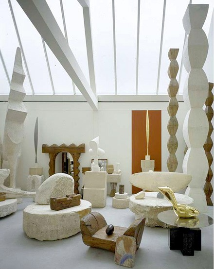 Sculptures from Romanian Constantin Brancusi