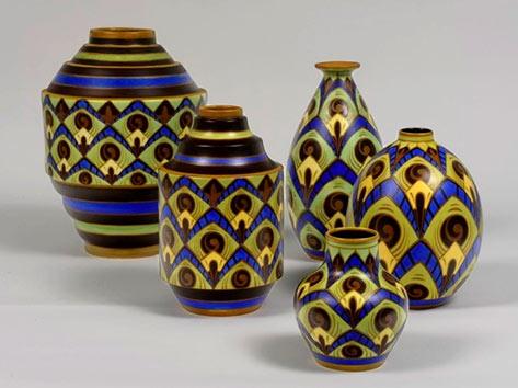 Boch Freres Charles Catteau vases