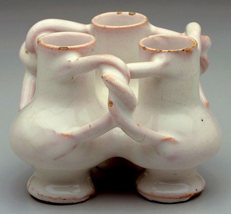 Fuddling-Cup - three conjoined ceramic cups